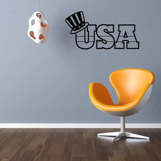 USA with Sam's Hat Decal