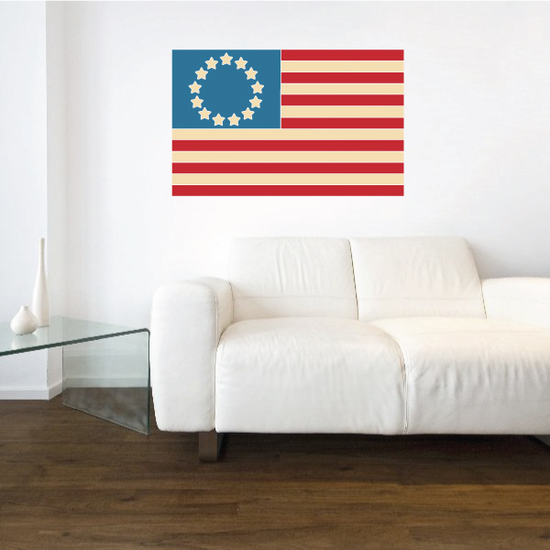 Colonial America Flag Sticker