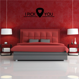 I Pick You guitar Pick Decal