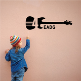 Bass Guitar Scale Decal