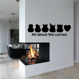 All about the Curves Guitar Body Decal