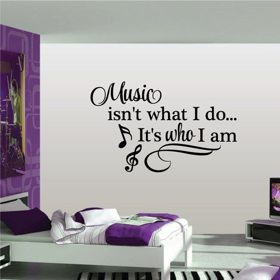 Music is Who I am Decal