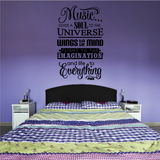 Music Gives a Soul to the Universe Decal