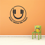 Music Makes Me Happy Decal