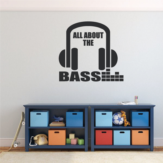 All About the Bass Headphone Decal