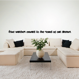 Time marches onward to the sound of our dreams. Wall Quote Mural Decal