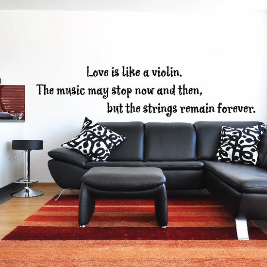 Love is like a violin Decal