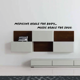 Medicine heals the body....Music heals the soul Decal