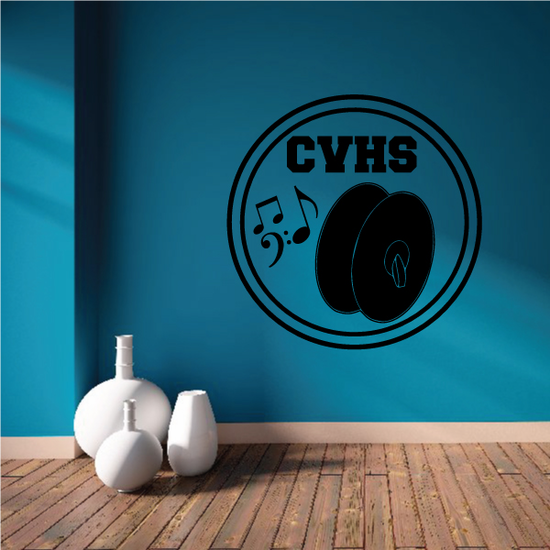 School Marching Band Symbols Decal