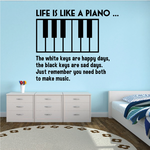 Life is Like a Piano Decal