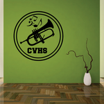 School Marching Band Brass Decal