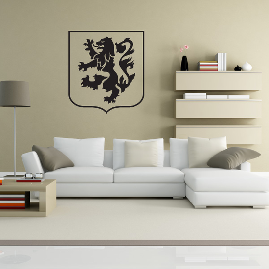 Military Lion Crest Decal