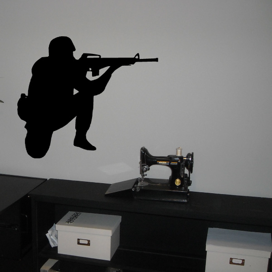 Soldier Aiming Decal