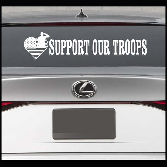 Support Our Troops Decal