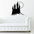 Castle And Moon Decal
