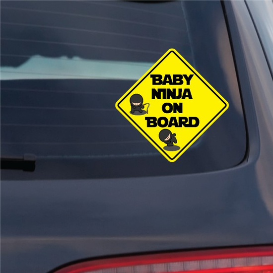 Baby Ninja on Board Sticker