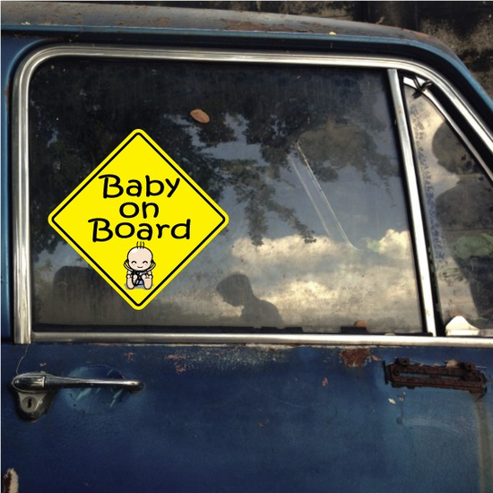 Sleeping Baby on Board Sticker