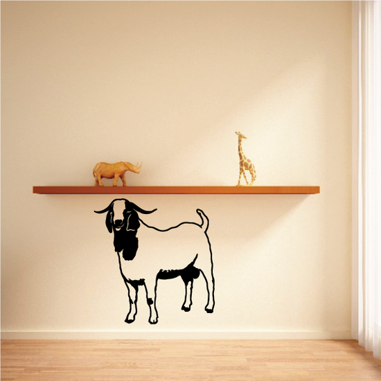 Boer Goat Standing Decal