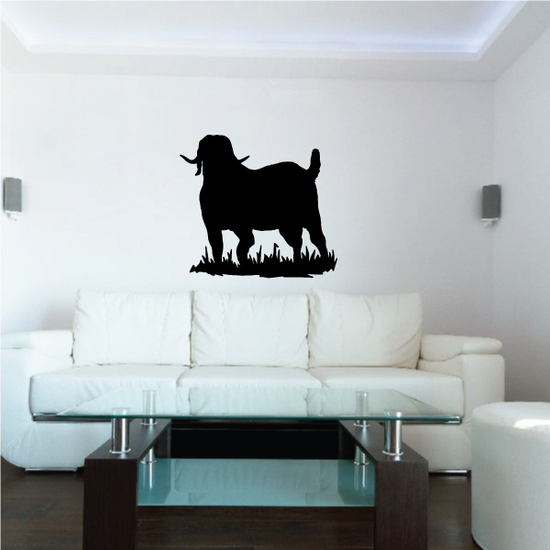 Boer Goat Watching Silhouette Decal