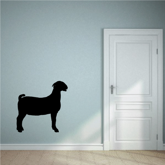 Boer Goat Standing Profile Silhouette Decal