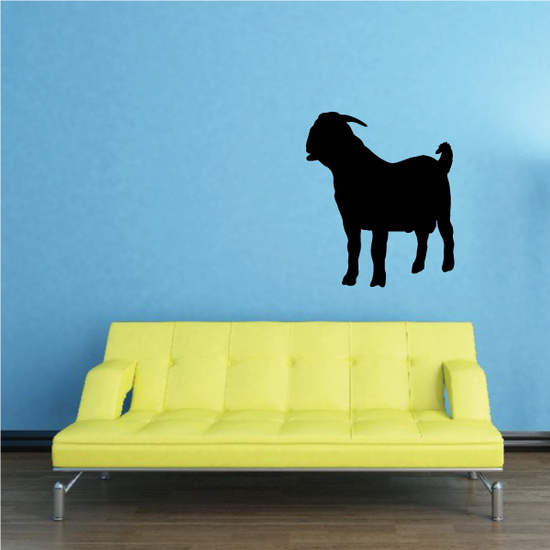 Boer Goat Staring SIlhouette Decal