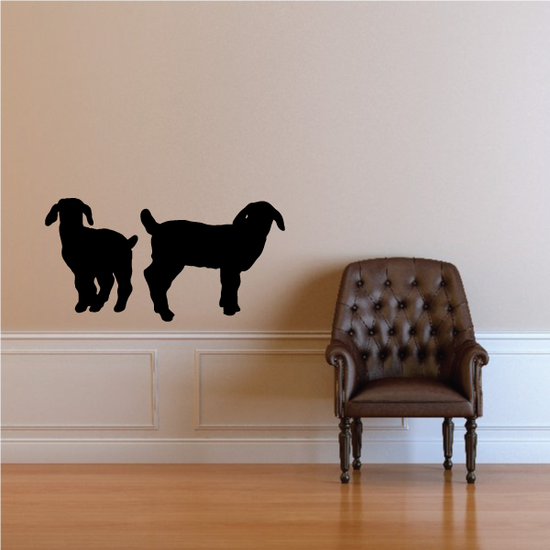 Two Young Boer Goats Silhouette Decal
