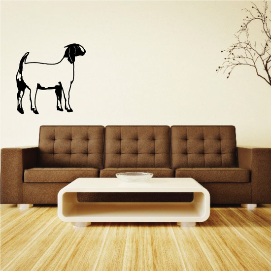 Curious Boer Goat Decal