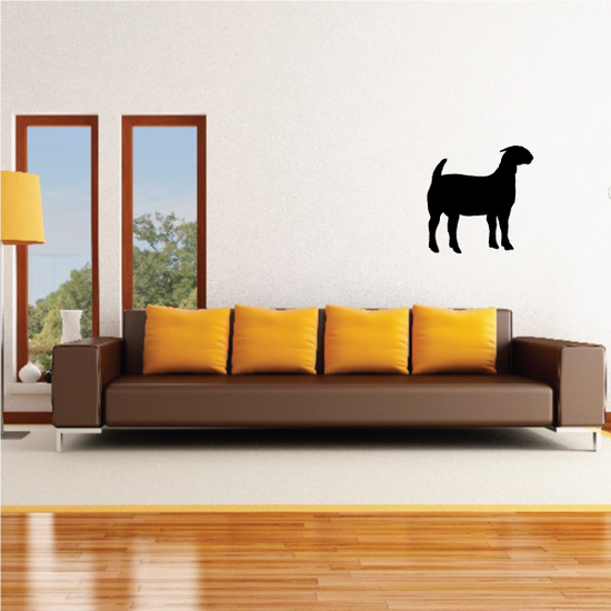 Curious Boer Goat Silhouette Decal
