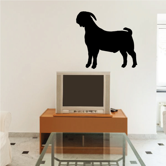 Proud Boer Goat Silhouette Decal
