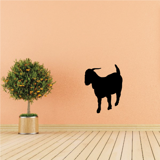 Boer Goat Looking Down Silhouette Decal