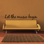 Let the music begin Decal