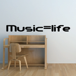 Music Equals Life Decal