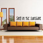 Sing in the sunshine School Marching Band Drums Decal
