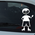 Boy Hand Behind and Waving Decal