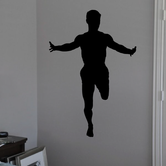 Track and Field Wall Decal - Vinyl Decal - Car Decal - AL 010