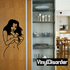 Shy Topless Woman Decal