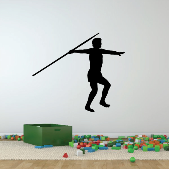 Track And Field Javelin Wall Decal - Vinyl Decal - Car Decal - NS002