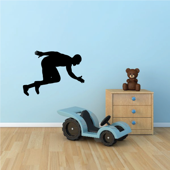 Track And Field Runner Wall Decal - Vinyl Decal - Car Decal - NS001