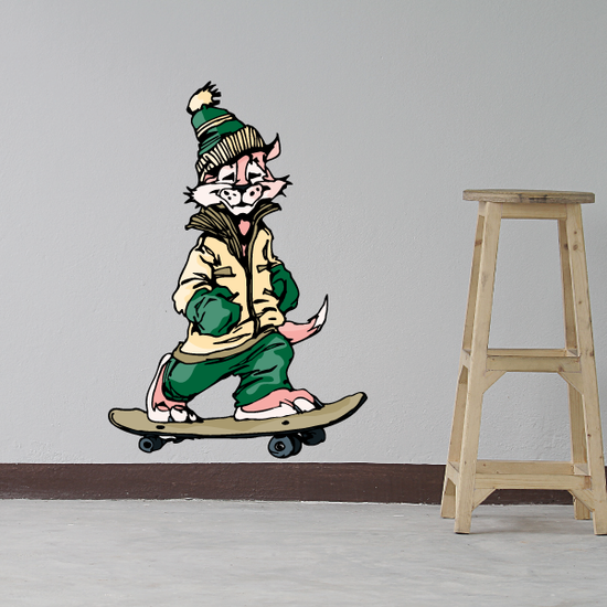 Skateboarding Wall Decal - Vinyl Sticker - Car Sticker - Die Cut Sticker - CDSCOLOR005