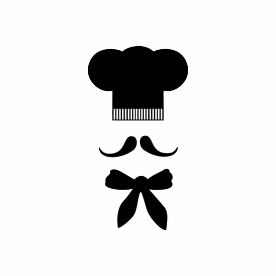 Chef hat with Mustache Decal
