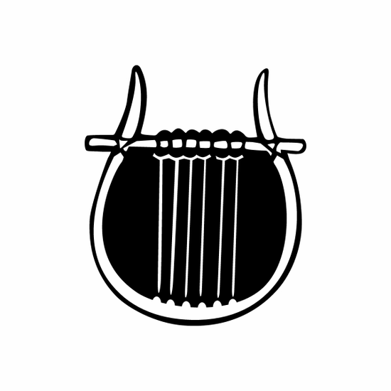 Lyre Simple Decal