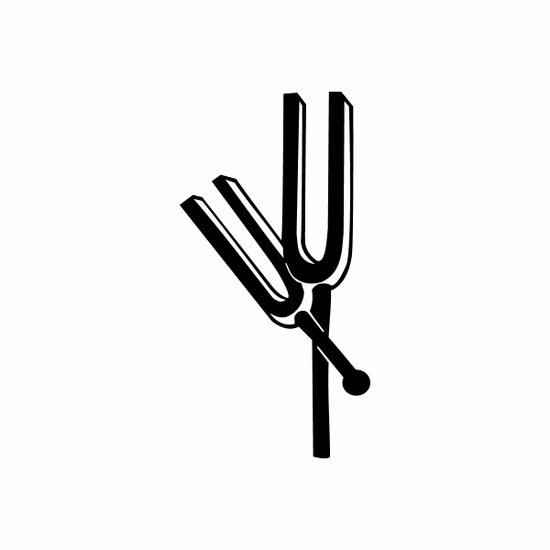 Tuning Forks Decal