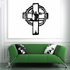 Barbed Wire Soldier Cross Decal