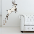 Christmas Reindeer Leaping with Stars Sticker