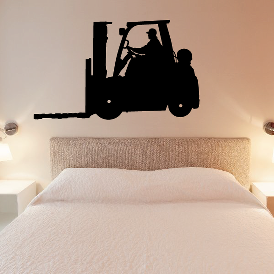Driving Forklift Decal