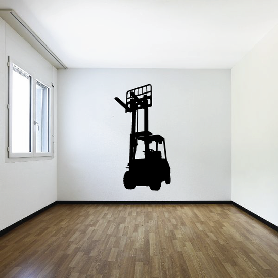 Raised Forklift Decal