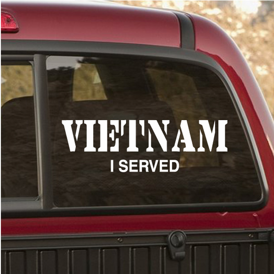 Vietnam I Served Decal