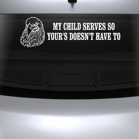 My Child Serves Eagle Decal