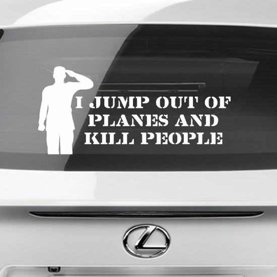 I Jump Out Of Planes Decal