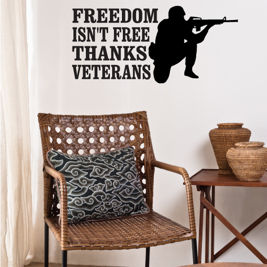 Thanks Veterans Soldier Decal